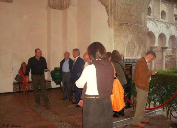 Visita de los Colegios Oficiales de diferentes lugares de España en una Visita al Alcázar de Sevilla