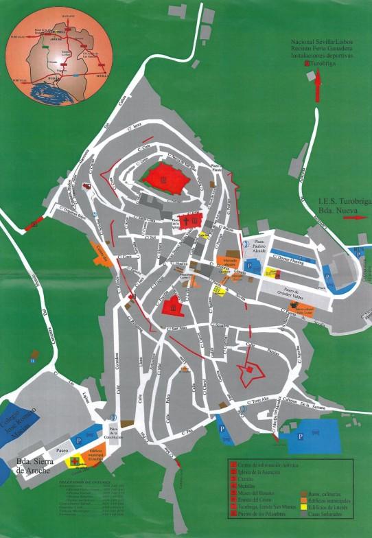 Mapa de Aroche, Centro de Recepción de Visitantes de Aroche. Ayto. Aroche