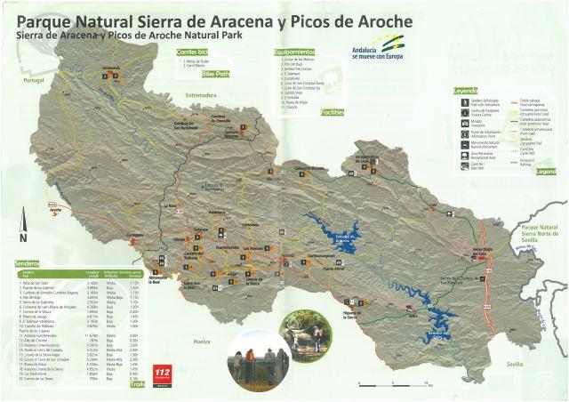 Mapa de Parque Natural Sierra de Aracena y Picos de Aroche
