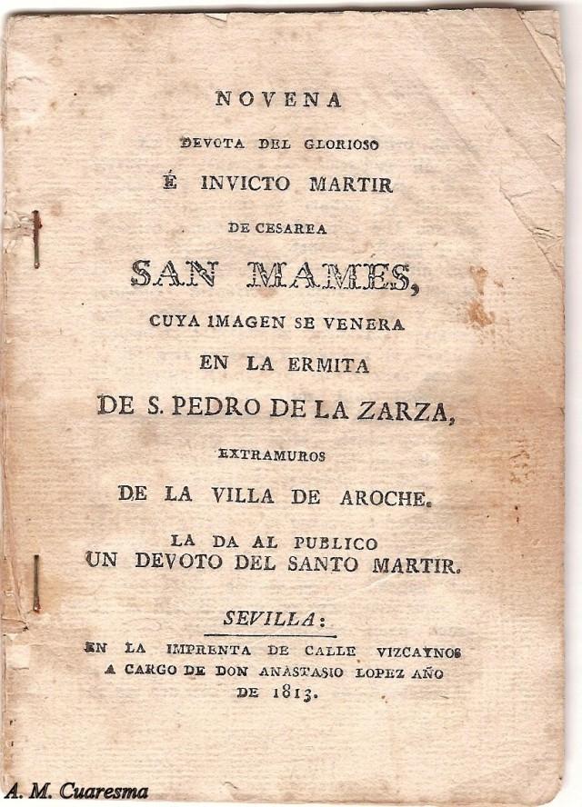 Novena de San Mamés 1813
